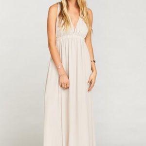 Ava Maxi dress- show me the ring crisp